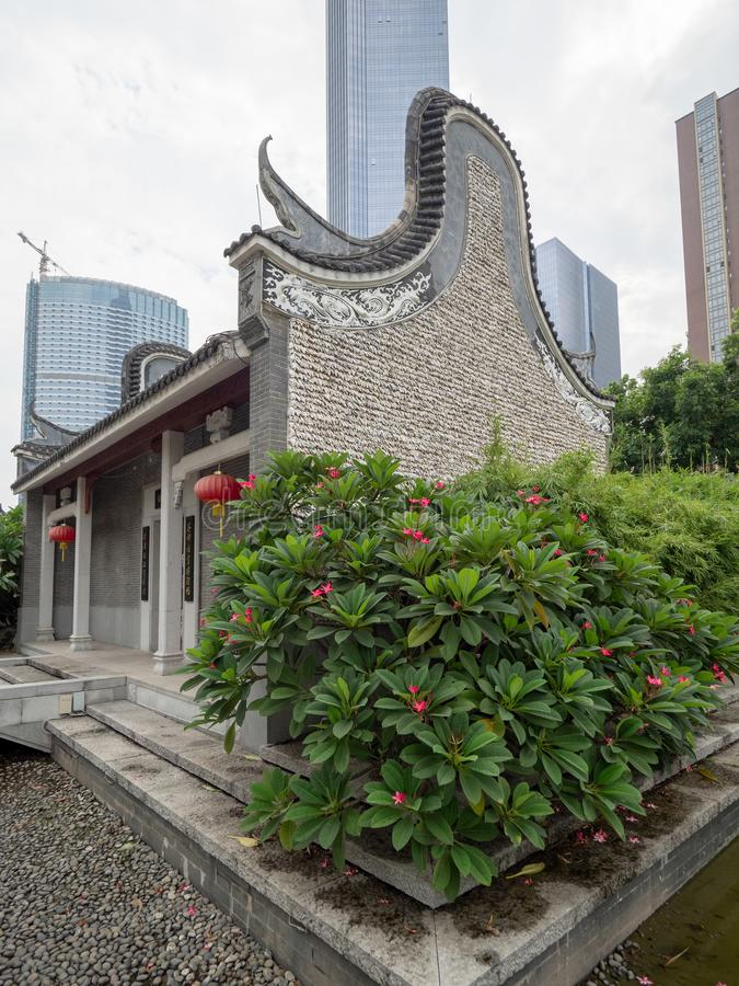 Liede Oude Tempel, Guangzhou, China stock afbeelding