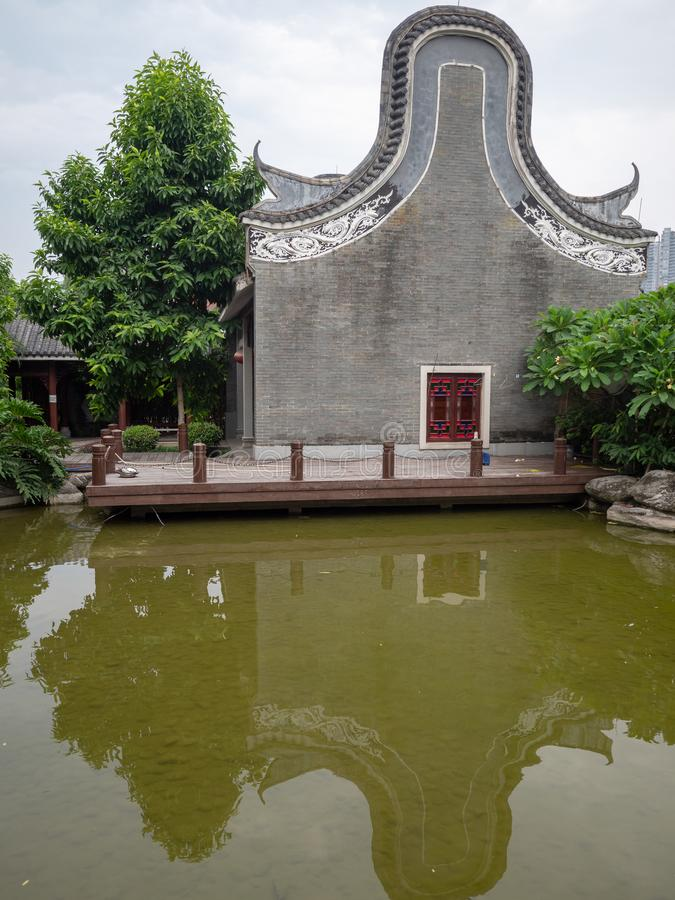 Liede Oude Tempel, Guangzhou, China royalty-vrije stock afbeeldingen