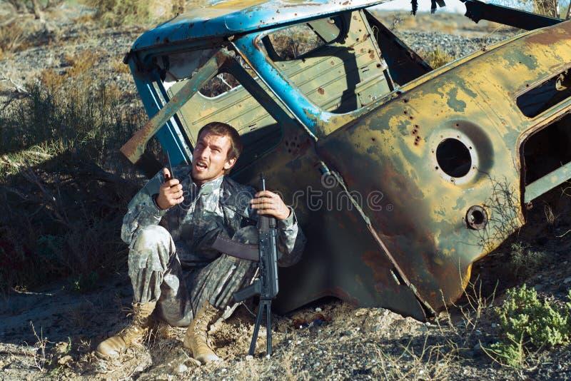 Lief aus Munition heraus lizenzfreie stockfotografie