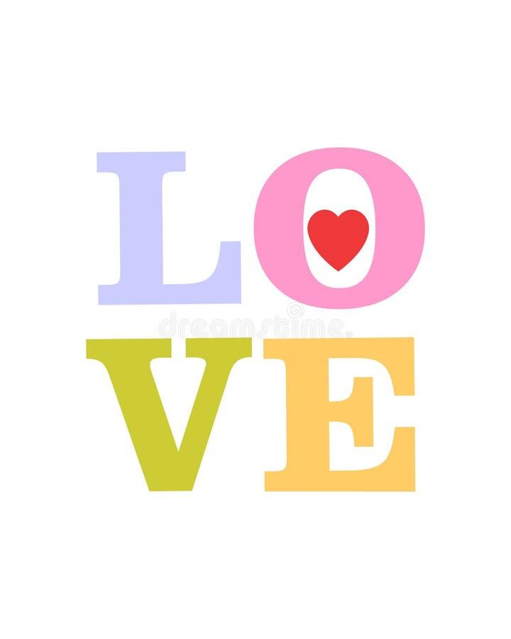 Liefde… vector illustratie