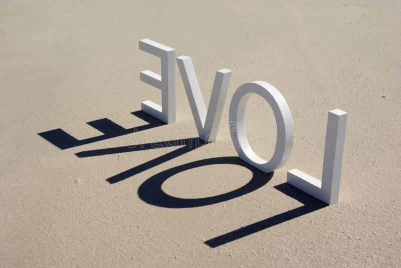 Liefde 2 van het strand stock afbeelding