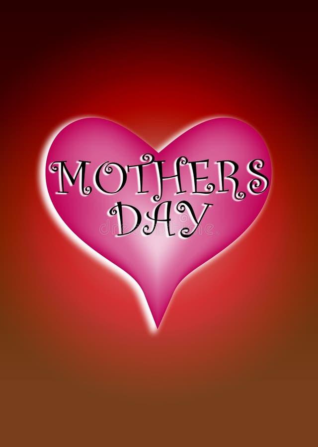 Liefde 5 van de Dag van moeders stock illustratie