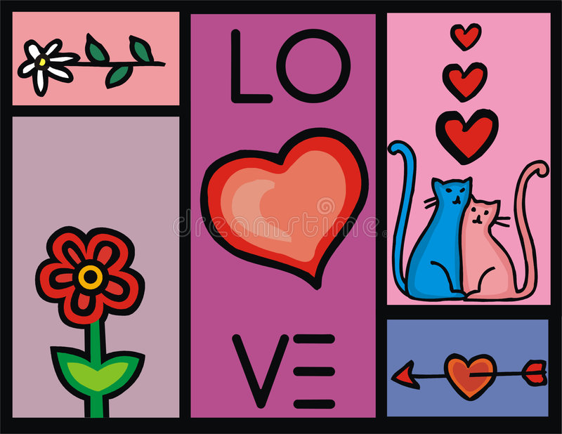 Liefde royalty-vrije illustratie