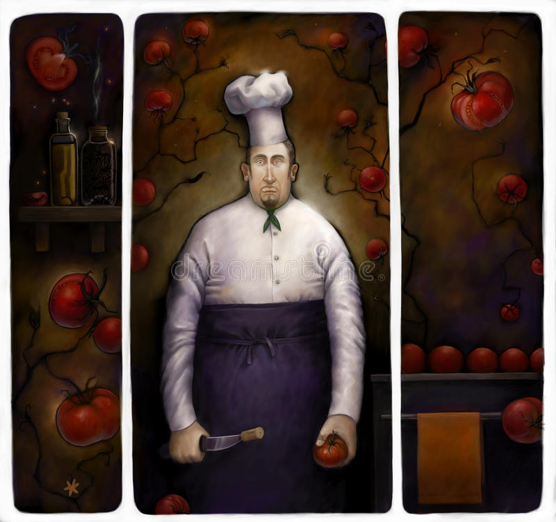 Liefde aan tomaten stock illustratie