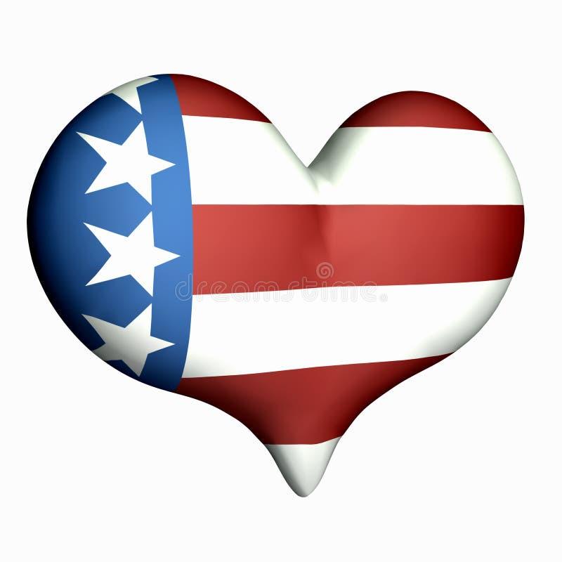 Liefde Amerika stock illustratie