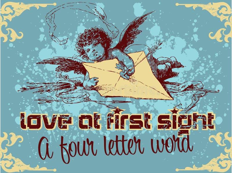 Liefde bij eerste gezicht royalty-vrije illustratie