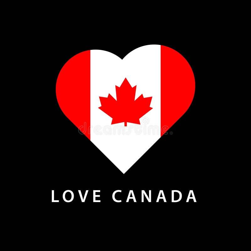 Liefde Canada Logo Vector Template Design Illustration stock illustratie