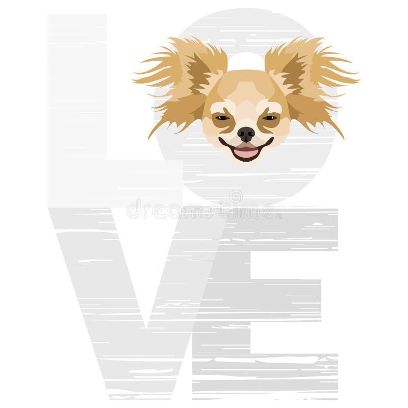 Liefde Chihuahua vector illustratie