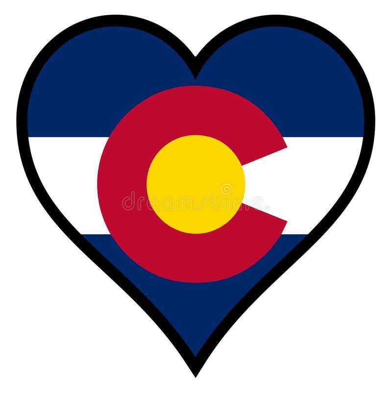 Liefde Colorado stock illustratie