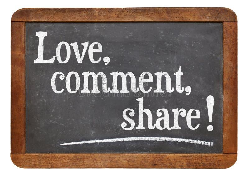 Liefde, commentaar, aandeel royalty-vrije stock foto