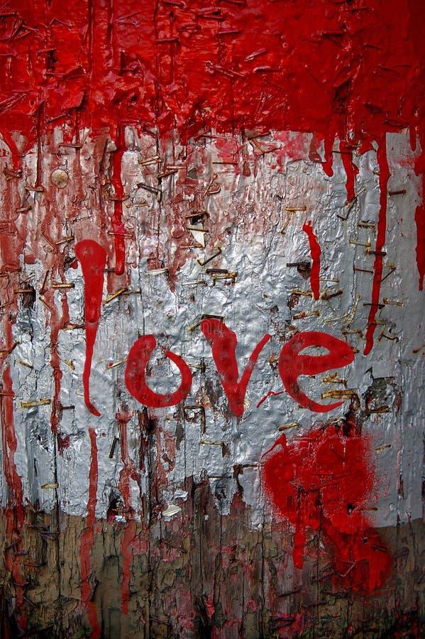 Liefde - de Dag van de Valentijnskaart royalty-vrije illustratie