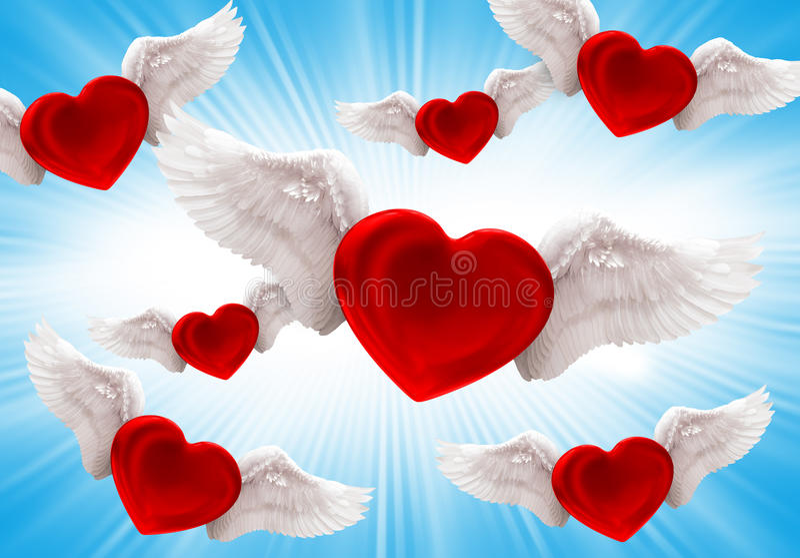 Liefde in de lucht stock foto's