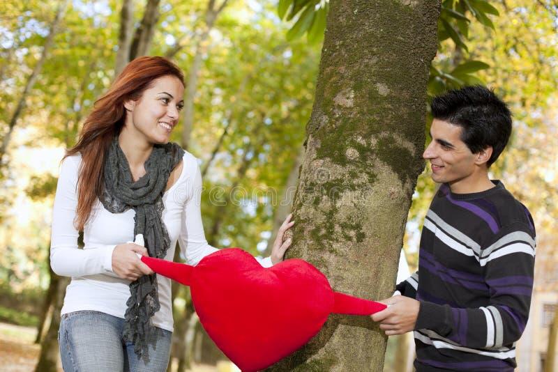 Liefde En Affectie Tussen Een Jong Paar Stock Fotografie