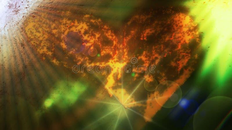 Liefde en aquatische lichten royalty-vrije stock afbeelding