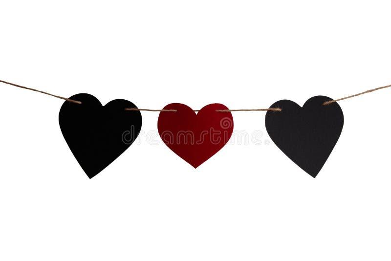 Liefde en de dagharten van Romaans Valentine stock foto