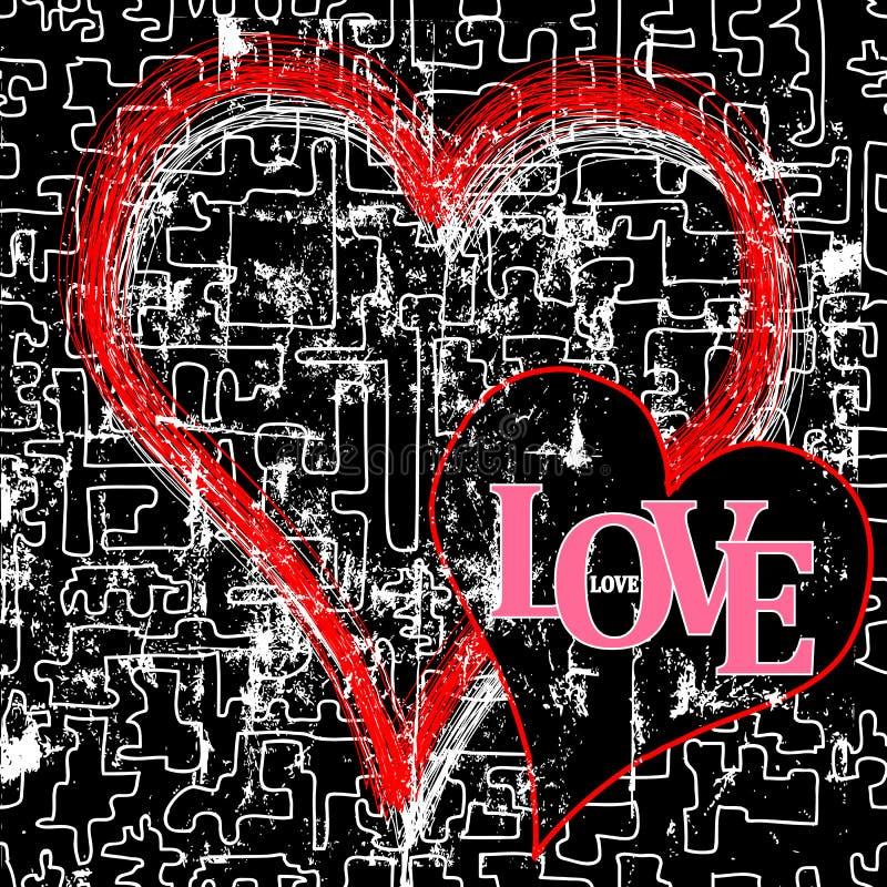 Liefde en hart royalty-vrije illustratie