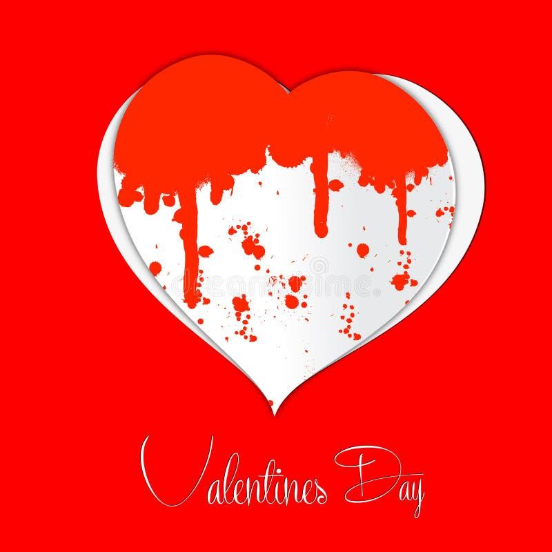 Liefde en hartillustratie stock illustratie