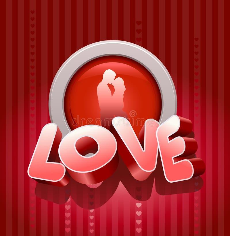 Liefde en kus stock illustratie