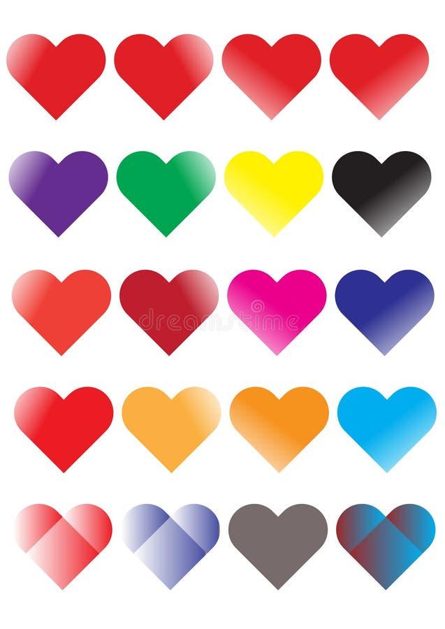 Liefde en Meer Kleur stock illustratie