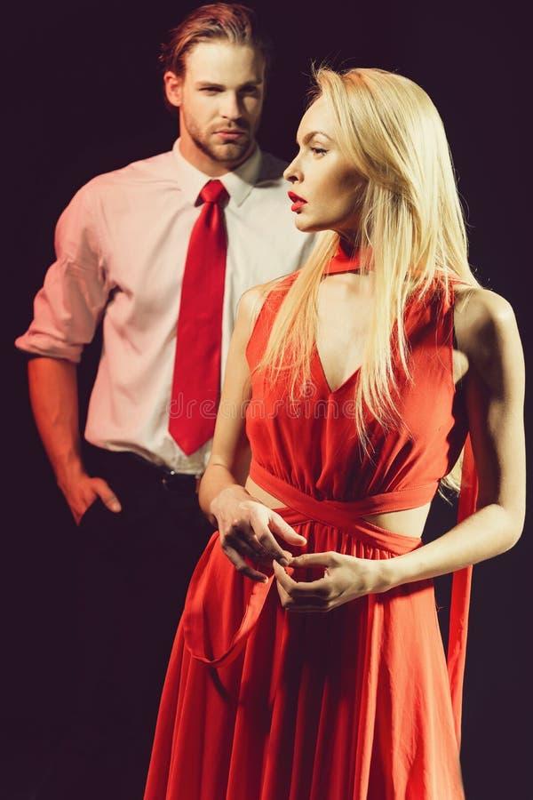 Liefde en relaties, schoonheid en manier, paar in liefde royalty-vrije stock foto