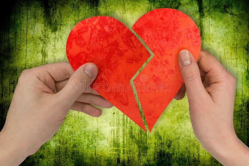 Liefde en scheiding royalty-vrije stock afbeelding