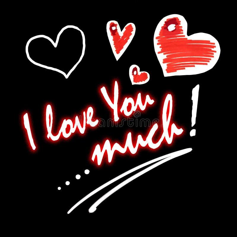 Liefde en strippagina vector illustratie