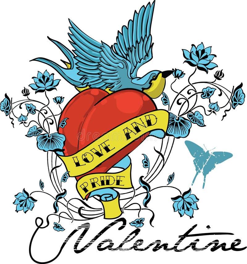 Liefde en Trots stock illustratie