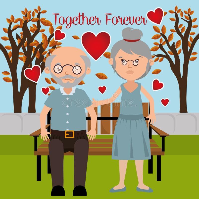Liefde en valentijnskaartendag royalty-vrije illustratie