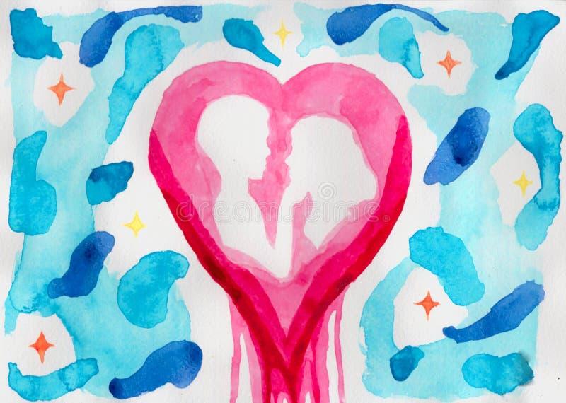 Liefde in hart royalty-vrije stock afbeeldingen