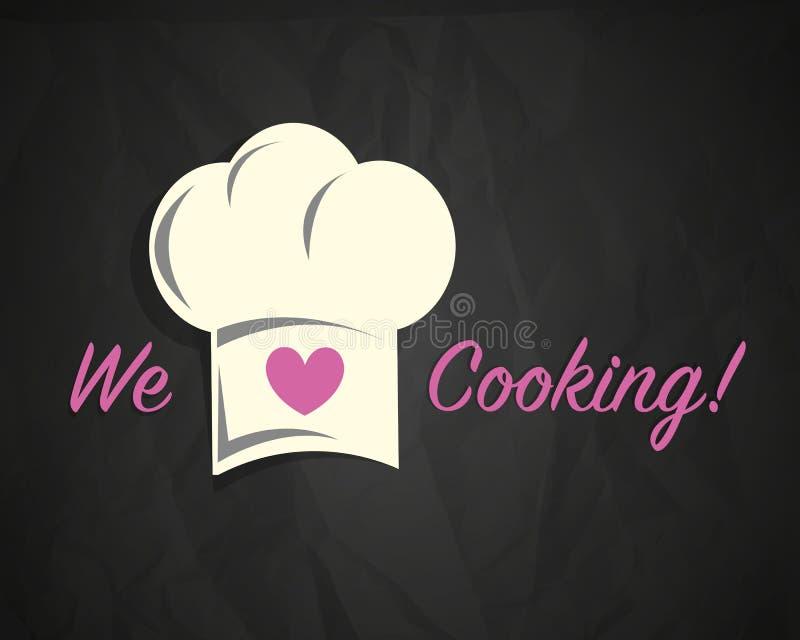 Liefde het koken vector illustratie