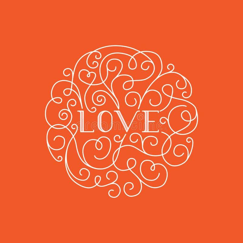 Liefde het van letters voorzien vector illustratie