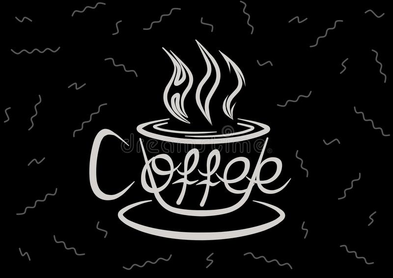 Liefde in Hete Koffie stock afbeelding