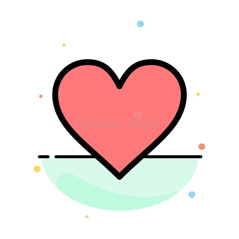 Liefde, Instagram, Interface, zoals het Abstracte Vlakke Malplaatje van het Kleurenpictogram royalty-vrije illustratie