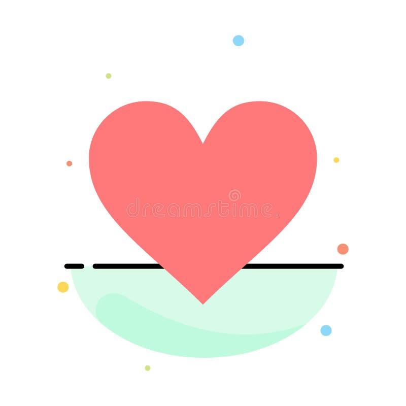 Liefde, Instagram, Interface, zoals het Abstracte Vlakke Malplaatje van het Kleurenpictogram vector illustratie