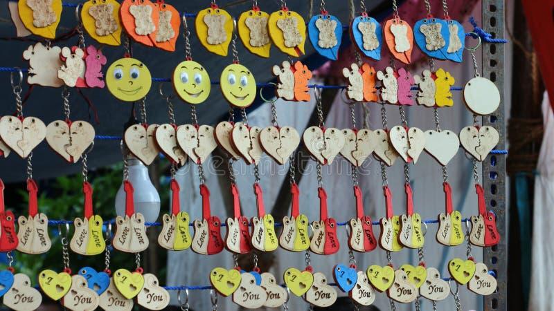 Liefde Keychain stock afbeelding