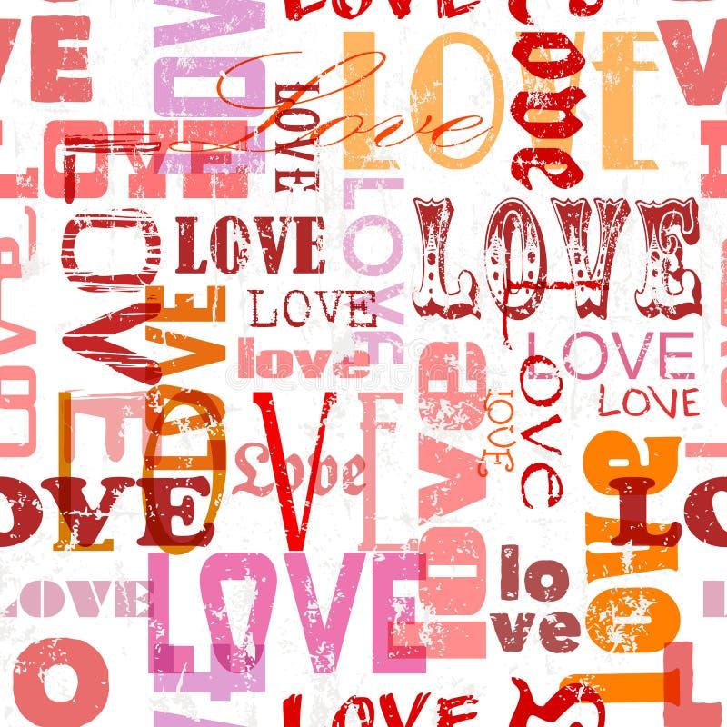 Liefde naadloos patroon, vector illustratie