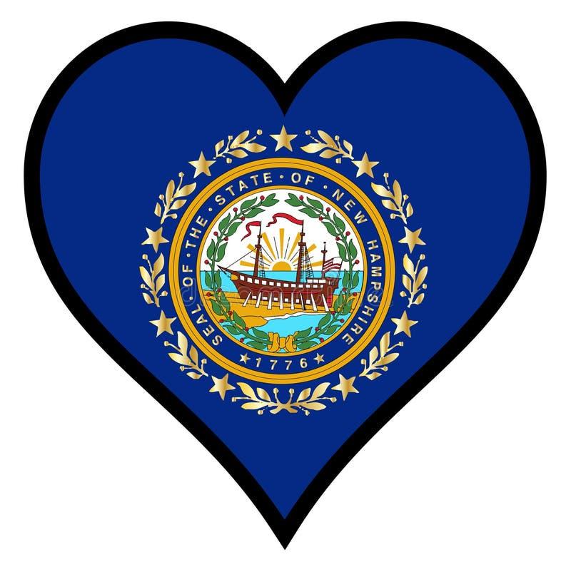 Liefde New Hampshire vector illustratie