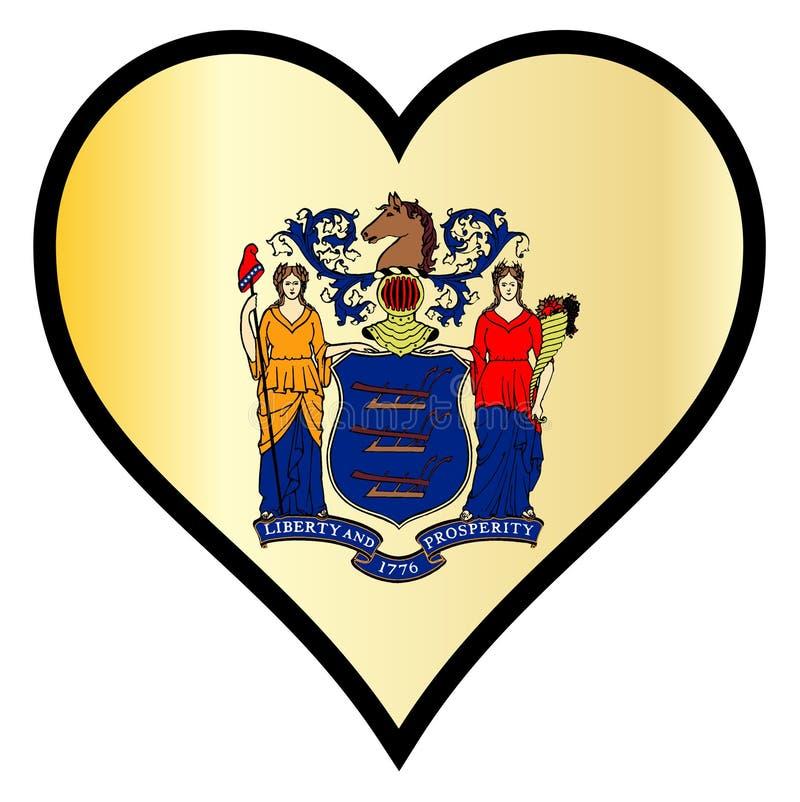 Liefde New Jersey vector illustratie