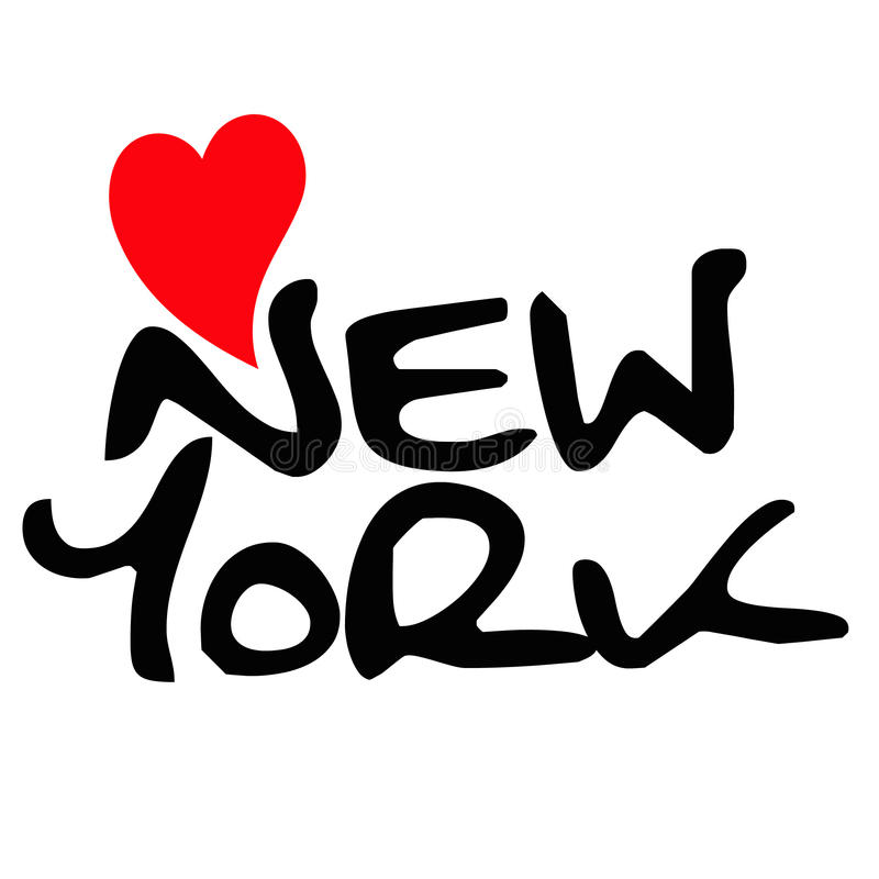 Liefde New York stock illustratie