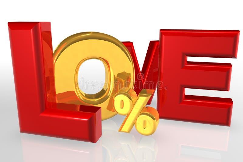 Liefde Nul Financiën royalty-vrije illustratie