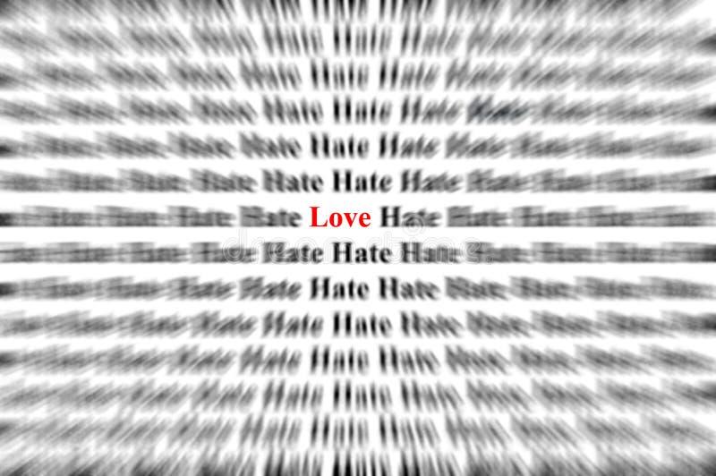 Liefde onder haat stock fotografie