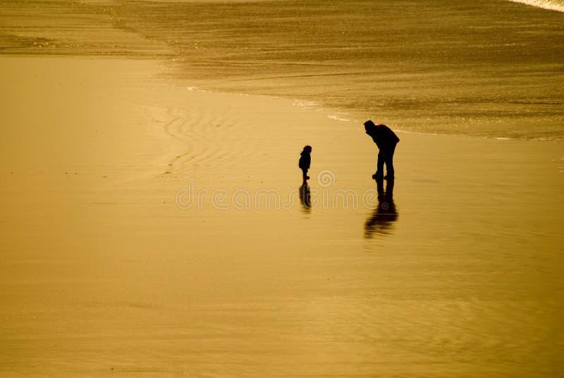 Liefde op het Strand stock afbeeldingen