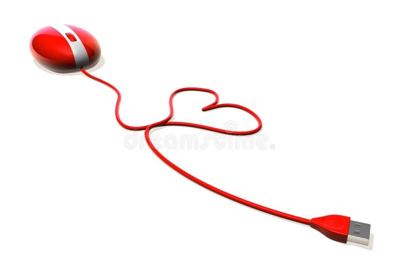 Liefde op Internet vector illustratie