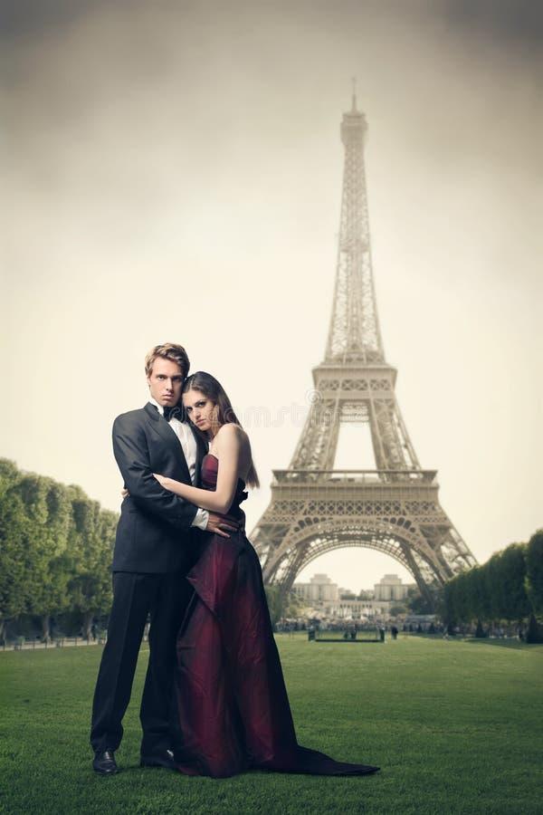Liefde in Parijs stock foto's