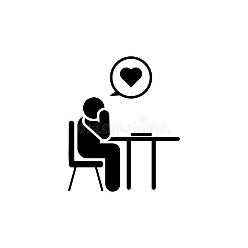 In liefde, student, boos pictogram Element van het pictogram van het onderwijspictogram Grafisch het ontwerppictogram van de prem vector illustratie