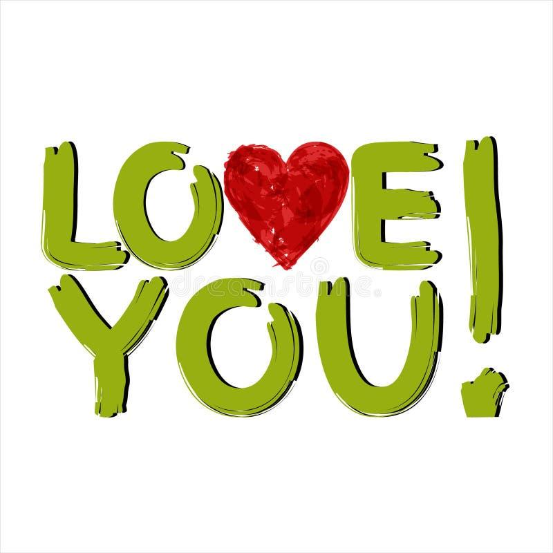 Liefde u stock illustratie