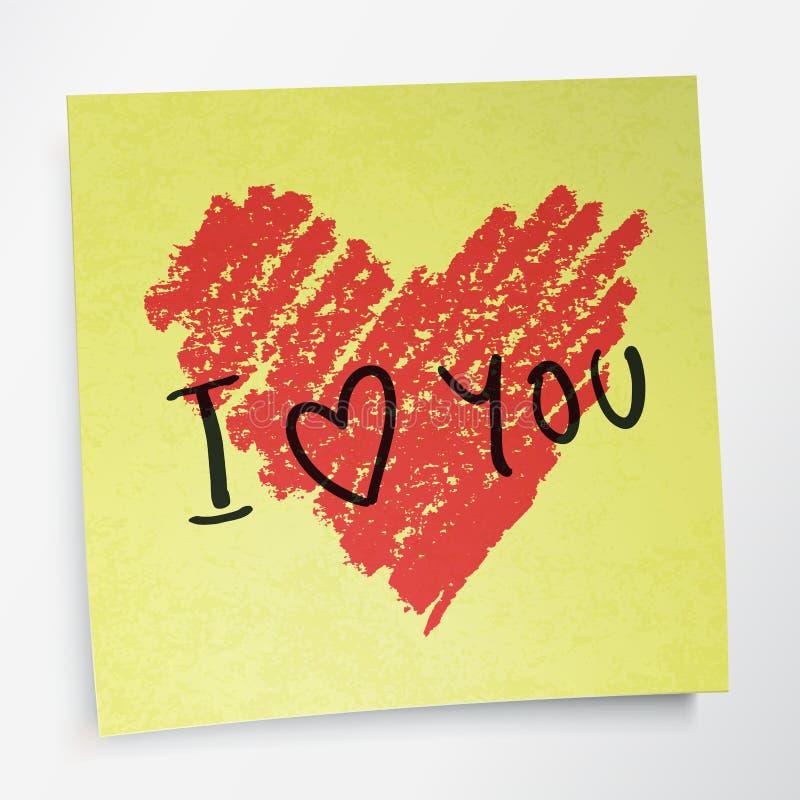 Liefde u woorden en hartsymbool royalty-vrije illustratie