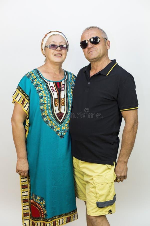 Liefde van de bejaarden op vakantie royalty-vrije stock afbeeldingen