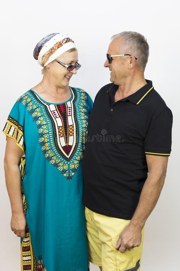 Liefde van de bejaarden op vakantie royalty-vrije stock afbeelding