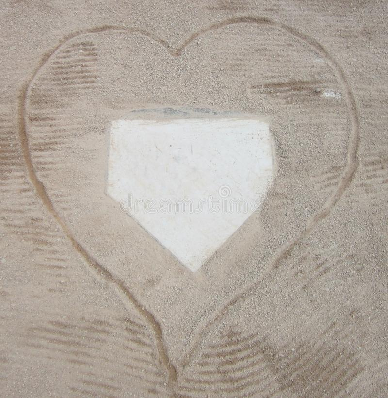 Liefde van Honkbal stock afbeeldingen